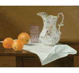 Porcelain Pitcher with Oranges